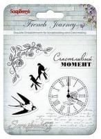 Набор штампов 10,5*10,5см, Французское путешествие - Счастливый момент